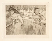 Pretty Limited Edition 1892 Edgar Degas Etching Girls At The Ballet Framed Coa