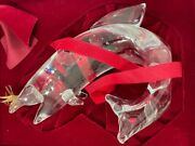 Steuben Glass Trout With Gold Fly By James Houston In Original Red Box