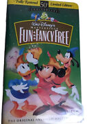 Vhs Walt Disney Masterpiece Collection Fun And Fancy Free 1997 50th Anniversary