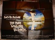 David Bowie Man Who Fell To Earth Hand Signed Uk Quad Movie Poster Uacc Dealer
