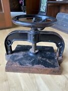 Antique Cast Iron Book Press Good Working Condition Press Plate 10.25 X 12.5