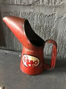 Vintage Esso Oil Can Pouring Jug Pint Motoring Advertising
