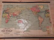 Vintage Philip's School Room Map Of The World Beautiful