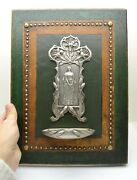 Nice Older Antique Holy Water Font With Embossed Panel Of Mary Sr55 Chalice Co
