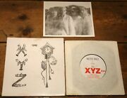 Xyz Only You B/w Time Uk Synth Punk Note Pad P/s Vinyl 7 1983 W/ Promo Photo