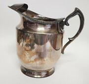 Vintage Poole Silver Co Epca Large Silverplate Pitcher 6.5 X 4.5 X 6.5