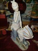 Lladro Baby's Outing Woman With Baby Carriage Gloss Finish Figurine 4938 Repair