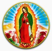 2019 Mexican Libertad Lady Of Guadalupe Colorized Gold Gilded 2oz Silver Coin