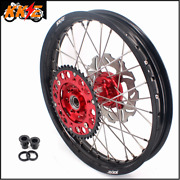 Kke 2.1519and039and039 Rear Wheels Rims Fit Honda Cr125r 98-01 Cr250r 97-01 Silver Disc