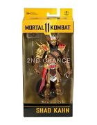 In Hand Mcfarlane Toys Mortal Kombat 11 Shao Kahn 7and039and039 Action Figure W5 Mint