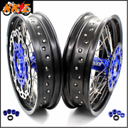 Kke 3.5/4.25 Supermoto Wheels Rim Set For Hus Te Tc All Model 04-14 Silver Discs