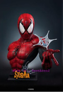 Queen Studios 1/1 Marvel Comic Spider-man Bust Red And Black Version Statue
