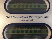 O Scale - Williams - Southern Crescent Limited Set Of 4 Passenger Car Trains