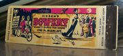 Vintage Matchbook Cover A1 Miami Florida Zissenand039s Bowery Bicycle Fun House Dog