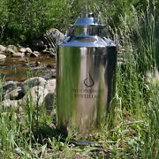 Stainless Steel Milk Can Distilling Boiler - 13 Gallon 2/3/4 Lid Available