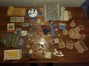 109pc Vintage Dolls And Doll Furniture And Accessories Retro Antique Small