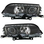 For Bmw 323i Headlight 2000 Pair Driver And Passenger Side Hid Type Bm2502113