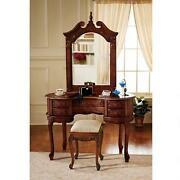 Af96168 - The Queen Anne Dressing Table And Mirror - New