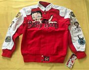 Vtg Authentic Merchandise Jh Design Betty Boop Canvas Jacket Womenand039s S New Nwt