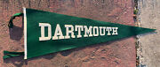 """Vtg 40s Dartmouth College Wool Felt Pennant Stitched Letter 29"""" Indians Football"""