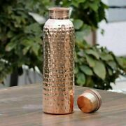 Traditional Heath Benefits 100 Hammered Copper Bottle New Stylish And Ayurveda