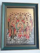 Vintage Villeroy Boch Porcelain Russian 19th Cnt. Icon Synaxis Of The Archangels