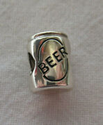Unbranded Antique 925 Sterling Silver Pop Top Can Of Beer European Bead Charm