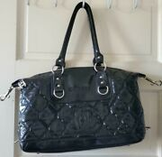 Rare And 100 Authentic Big Black Tote/ Hand Bag / Large Zip Shopping Bag