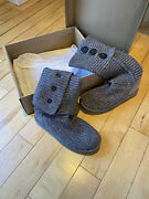Classic Cardy Button Gray Uggs Size 7