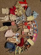 Vintage Barbie And Ken Doll And Clothes 1960and039s Lot