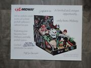 Midway Williams And Bally Pinball Machine Custom Parts Collector Cabinet Flyer