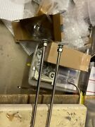 Vintage Ford 26 Stainless Hood Rods And Cowl Brackets One Pair