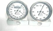 Smiths Gauges Speedometer And Tachometer 80mm In White Fae Chrome Bezel