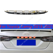 For Toyota Camry 2018-2021 Accessories Black Rear Door Trunk Led Tail Light Trim