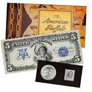 2001 American Buffalo Coin And Currency Set - Complete And Original Gem 2001-d 1