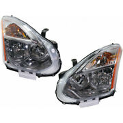 For Nissan Rogue Headlight 2011 2012 Lh And Rh Pair/set Hid W/ Hid Kit