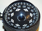 Lighted Aqua Meter Marine Boat Compass Metal Housing And Mounting Base 12 Volt A4