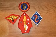 Us Marine Corps 2 Lots / 8 Patches Total All Are New