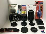 Good Condition Video And Selfie Ok Canon Kiss X8i Double Zoom Set