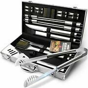 Grillart Bbq Grill Utensil Tools Set Reinforced Bbq Tongs 19-piece Stainless-...
