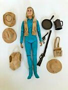 Vintage Marx Johnny West Cowgirl With Accessories Jane West Figure
