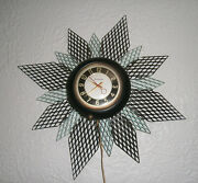 Mastercrafters 1950's Atomic Starburst Wall Clock With Backlight Works Great