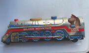 1960s Silver Mountain 3525 Battery Operated Tin Train By Modern Toys Japan Works