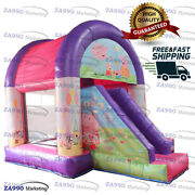 16x13ft Inflatable Peppa Pig Combo Bounce House And Slide Castle With Air Blower