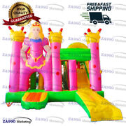 18x16ft Commercial Inflatable Princess Bounce House And Slide With Air Blower
