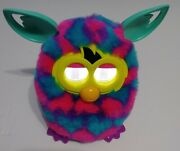 Hasbro Furby Boom 2012 Pink Purple Teal 💙 Hearts 💙 Talking Toy Tested Works