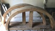 Antique Wooden Half Wheel From Wisconsin Flour Mill - 2 Available   4