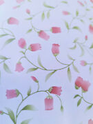 9ft Pink Tulips Contact Wall Paper Self Adhesive Removable Shelf Liner