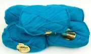Vintage Lovely French Yarn By Unger France Lot 5 Skeins Blue Acrylic Mohair Nos