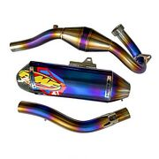 Exhaust Systems Full Titanium Pipe Silver Motorcycle Parts Honda Crf300l / Rally